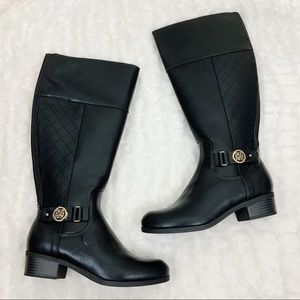 Liz Claiborne quilted riding boots